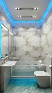 Peinture salle de bains pour agrandir l39espace restreint for Salle de bain design avec plaque décorative plafond