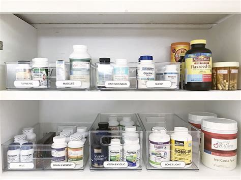 Medicine Closet Organization Ideas by Simply Done Simply Organized Vitamins And Supplements