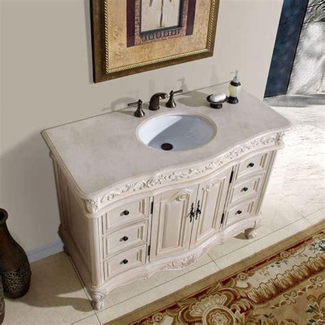 single sink vanity  cream marfil counter top