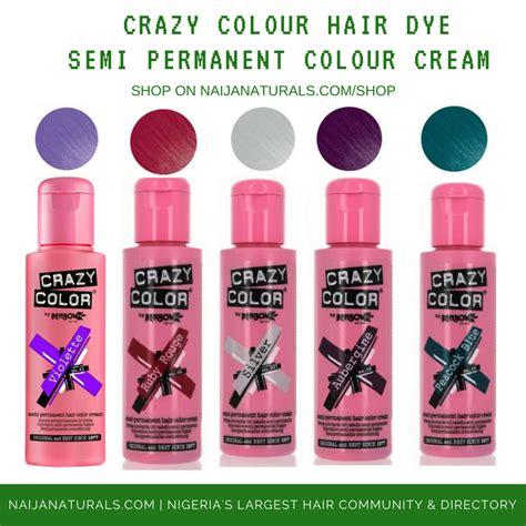 Crazy Colour Semi Permanent Hair Dye Naija Naturals