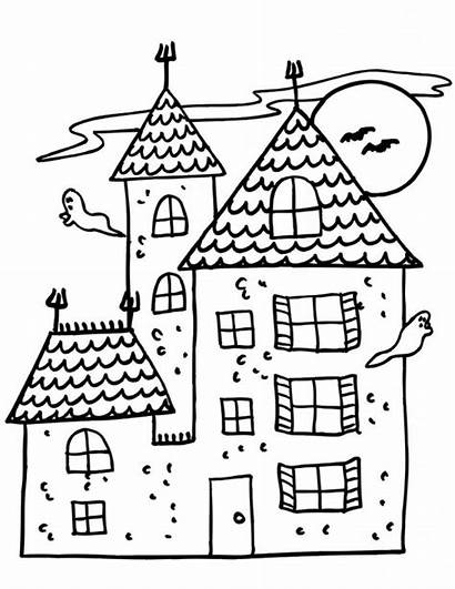 Coloring Pages Haunted Printable