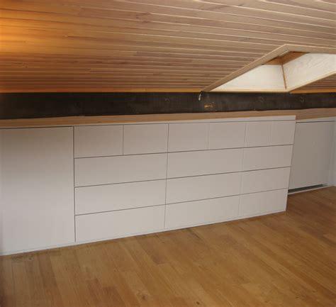 Meuble Rangement Sur Mesure Ikea by Rangement Sous Pente Arri Re Orchies R Alisation Meuble