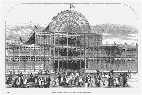 Front View of the Crystal Palace (Close-range View Seen ...