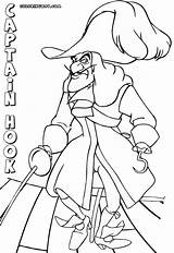 Captain Hook Coloring Pages Colorings Cartoon sketch template