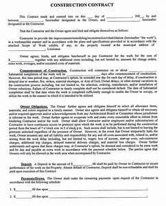 Sample Remodeling Contract Construction Company Contract Template Sample