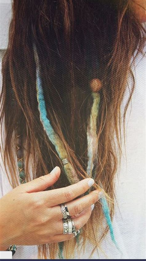 fake wool dreads diy hair pinterest wool style