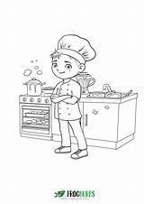 Chef Coloring Frogburps sketch template