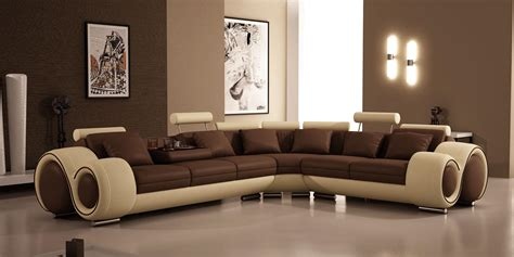 Vig Furniture Divani Casa 4087 Leather Sectional Sofa
