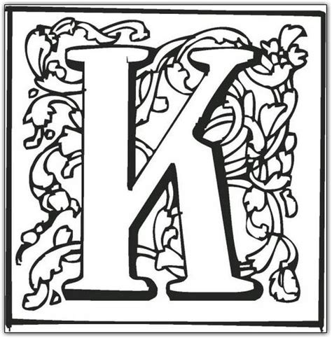 printable fancy letters k free printable fancy block alphabet coloring pages