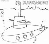 Submarine Coloring Pages Template Yellow Navy Popular sketch template