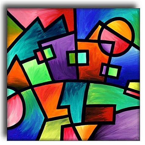 Abstract Modern Shapes by Sunset Suburbia By Amanda Hone From Abstract