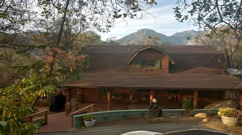 Storybook Log Cabin by Storybook Log Cabin Near Sequoia National Park Three Rivers
