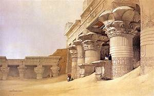 David Roberts Paintings : The Ancient Egyptian ...