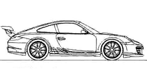Auto Kleurplaat Getund by Race Car Sport Porsche Coloring Page Porsche Car