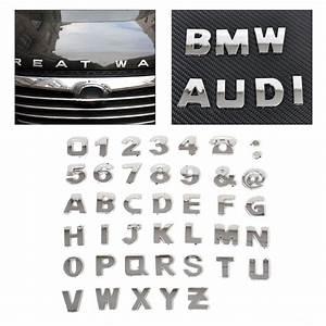 40pcs new 3d diy metallic alphabetnumber stickers car With car letter decals