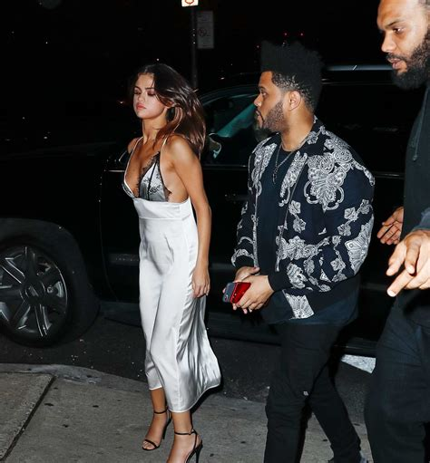 selena gomez and the weeknd out for dinner at raos during ...