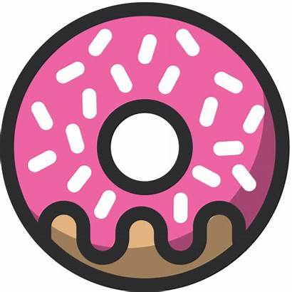 Icon Donut Bakery Sweet Icons Svg Vector