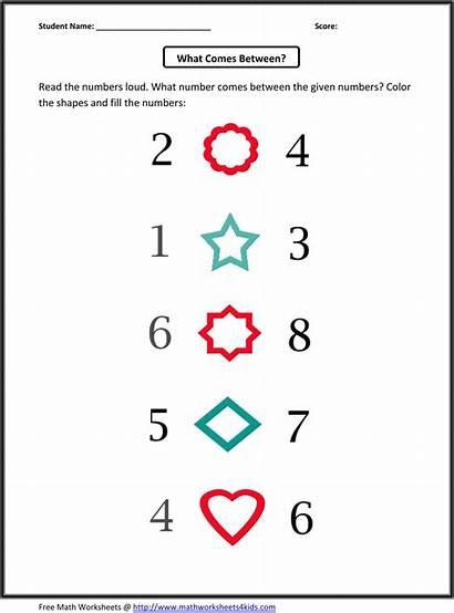 Worksheets Kindergarten Math Number Sequence Numbers Patterns