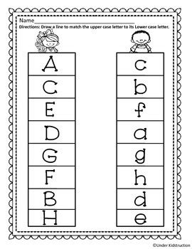 Match Uppercase Letter With Lowercase Letter By Under Kidstruction