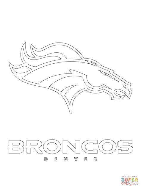 broncos coloring pages denver broncos logo coloring page free printable