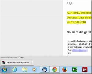 Ihre Aktuelle Rechnung : achtung gef lschte telekom rechnung februar ist ein trojaner mimikama ~ Themetempest.com Abrechnung