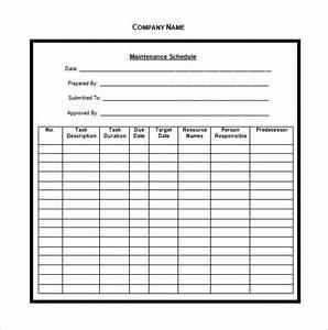vehicle maintenance schedule templates 10 free word With maintenance schedules templates