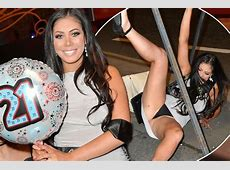 Geordie Shore star Chloe Ferry falls over and flashes her