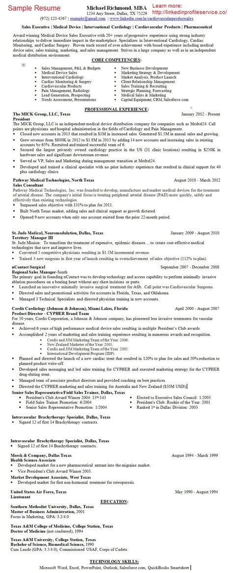 resume writing service device pharmaceutical sales