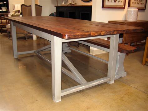 farm style table with bench simple farmhouse style dining room table with nice square