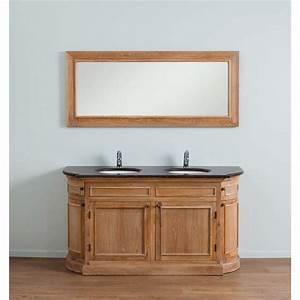 meuble de salle de bain banio flamant chene clair hauteur With meuble de salle de bain 160