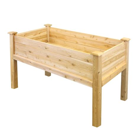 Greenes Raised Beds by Greenes Fence 48 In X 48 In Cedar Raised Garden Bed Rc