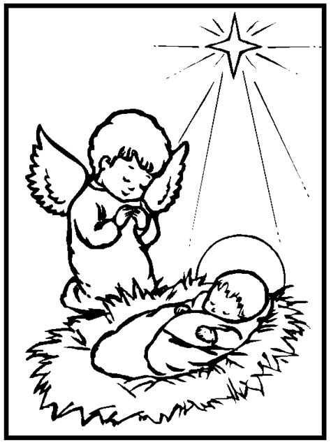 printable nativity coloring pages  kids