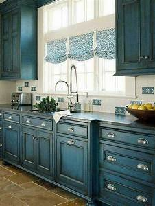 teal distressed kitchen cabinets home kitchens