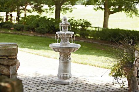 essential garden  tier fountain outdoor living