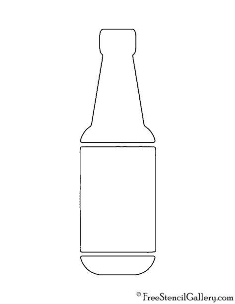 bottle template bottle stencil free stencil gallery