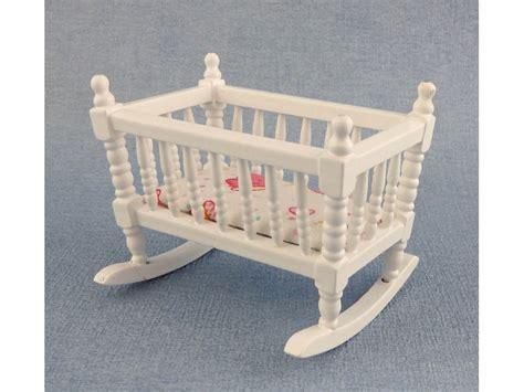 nursery furniture white wood rocking cradle  crib