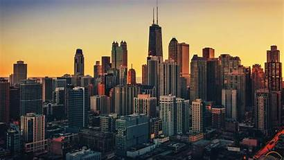 Chicago Cityscape Usa Desktop Wallpapers Background Buildings