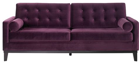 Purple Contemporary Sofa by Armen Living Centennial Sofa Purple Contemporary