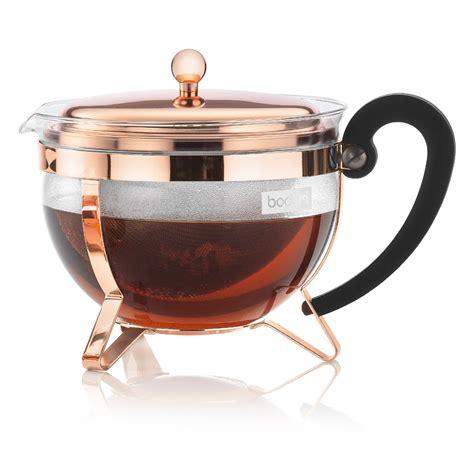 Bodum   Chambord Copper Teapot   Peter's of Kensington