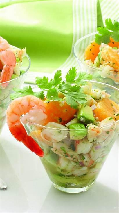 Shrimp Mandarin Recipe Avocado Onions Greens Cooking