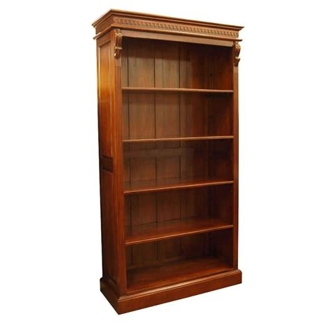 victorian open bookcase with carved corbels akd furniture