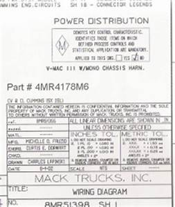 Mack Wiring Diagram Chassis Series Cl 2003