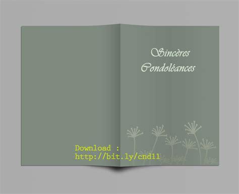 carte de condoleance modele mod 232 le carte de condoleances a imprimer gratuit