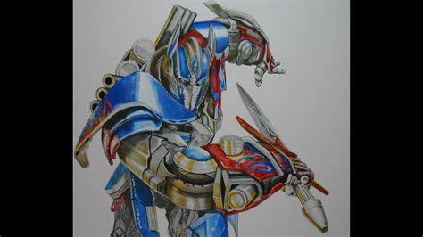 drawing optimus prime speed painting  damian riestra