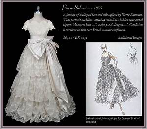exquisite vintage bridal gowns from the frock chic With balmain wedding dress