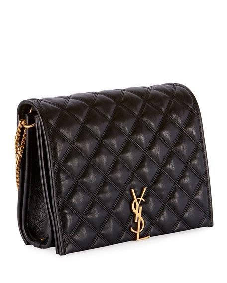 saint laurent becky small monogram ysl quilted shoulder bag neiman marcus
