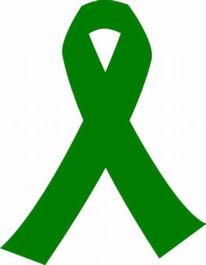 Ribbon Cancer Clipart Lime Clip Awareness Vector