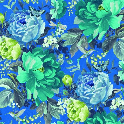 shade wilder dianthus floral wallpaper china blue
