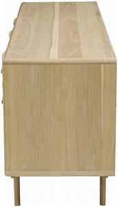 Meuble Bas Four Plaque : meuble bas plaqu ch ne et ch ne blanchi kol 3 portes 2 tiroirs ~ Teatrodelosmanantiales.com Idées de Décoration