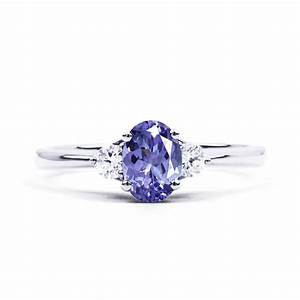 paragon 18ct white gold tanzanite and diamond engagement With tanzanite wedding rings